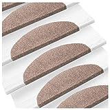 etm Set de 15 marchettes d'escalier Surface Confortable et antidérapante | Taille 23x65cm | Couleurs diverses
