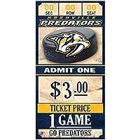 WinCraft Nashville Predators NHL Ticket Schild