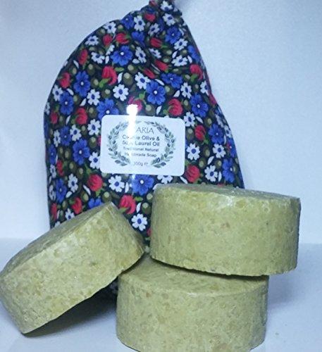 3-x-caria-aceite-de-oliva-y-laurel-50-barras-de-jabon-molino-de-mano-redondo-turco-tradicional-casti