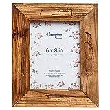 Cornice portafoto in legno invecchiato DRI14568, con profilo da 5 cm, per foto da 15 x 20 cm