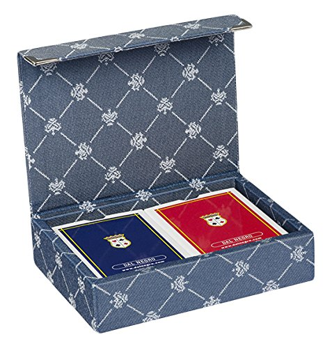 Dal Negro 804520-Puerta Tarjetas de Juegos Prestige Color Poker y Ramino, Azul