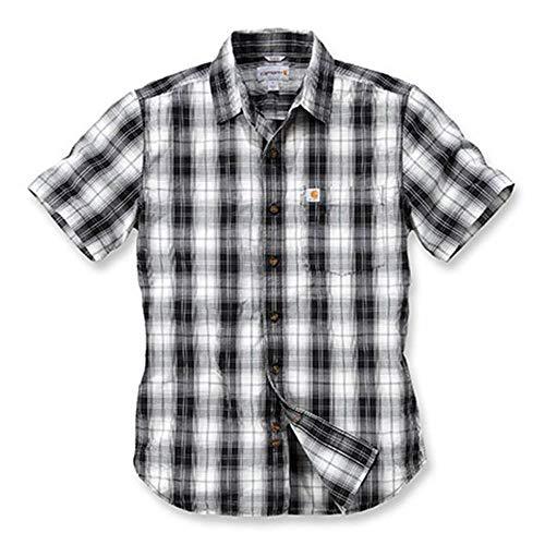 Carhartt Slim Fit Plaid kurzarmhemd XL Schwarz/Weiß -