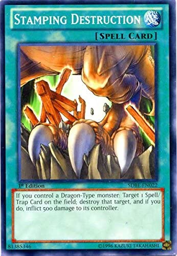 YuGiOh Stamping Stamping Stamping Destruction Common 1st Edition SDBE-EN022 [Toy] b69aff