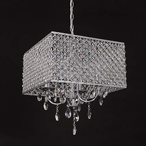LED Kronleuchter Kristallleuchter, moderne Kronleuchter-Kristallleuchte, Deckenleuchte 7,8 Zoll Durchmesser LED-Lampen für Flur, Schlafzimmer, Wohnzimmer, Küche, Esszimmer, 4 Licht Innenbeleuchtung -