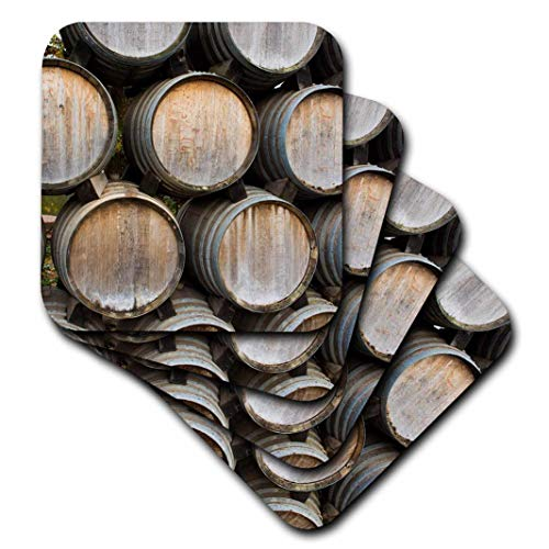 3dRose cst_258801_1 Weinfass in Reihen gestapelt, Sonoma Valley California, 4 Stück Sonoma-bar Set