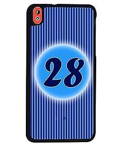 Fuson 2D Printed Numerology Designer back case cover for HTC Desire 816 - D4248