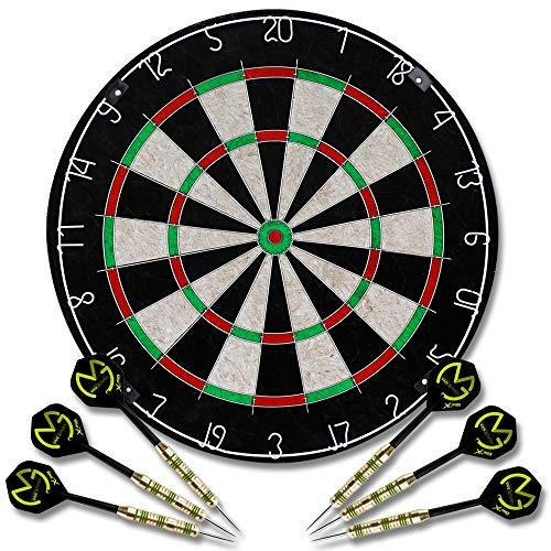 Dartscheibe inkl. 6 Dartpfeile - Dartboard - Dart - Steeldarts - Dartset