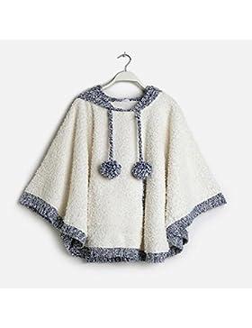 DMMSS Pigiama Women 's Top con cappuccio Capes Scialli Sleepwear , white , s/m