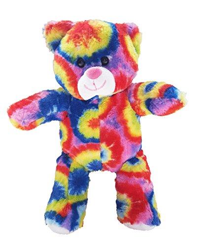 Stuffems Toy Shop Nehmen Sie Ihre eigenen Plüsch-8-Zoll-Tie Dye Bear - Ready 2 Liebe in EIN Paar einfachen Schritten - Baby-schritte Tie Dye