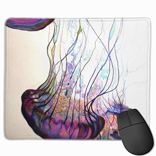 Purple Jellyfish Non-Slip Rubber Mouse Mat Mouse Pad for Desktops, Computer, PC and Laptops 9.8 X 11.8 inch (25x30cm)