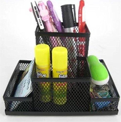 Penna Pot Mesh portapenne in metallo Pen Pot multiuso Desk