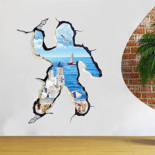 PENG 3D Wand Aufkleber Wohnzimmer Schlafzimmer Charakter Cartoon Wandbild entfernbare Aufkleber Wandsticker kaufen erhalten Sie ein , (Halloween Cartoon Charakter)