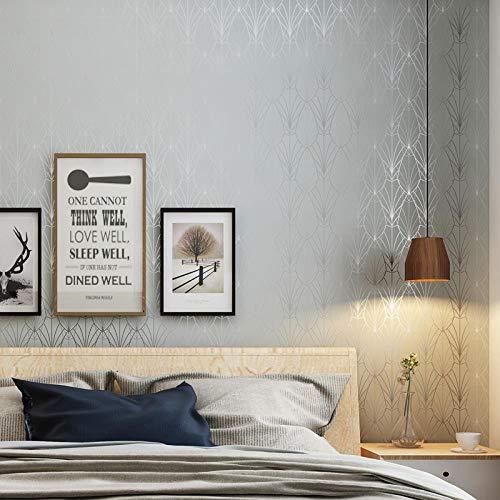 QJBZHI Einfache Moderne Tapete Abstrakte Blume Nordic Schlafzimmer Studio Wohnzimmer Tv-Hintergrund Hellgraue Vliestapete, Hellgrau, 53 Cm X 10,05 M (Studio-hintergrund Tv)