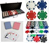 Poker 500 Set 11.5g Texas Hold - em Chips Case Token Dice Cards 2 Decks Blackjack
