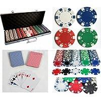 Leisure Pursuits Poker 500 - Maletín completo de póquer Texas Hold Em