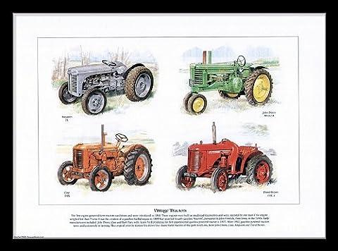 Tirage artistique de tracteurs vintage ModèlesFerguson TE, John Deere Model