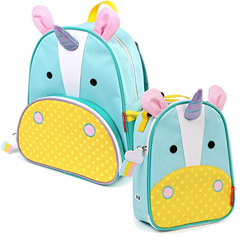 Skip Hop de los niños Zoo Pack Mochila & Lunchie Bolsa de almuerzo Combo–Unicorn