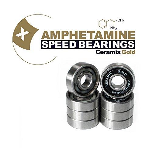 Skateboard Kugellager Amphetamine Ceramics Gold keramik bearings High-End für Longboard, Inline, Fidget Spinner