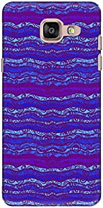 The Racoon Lean printed designer hard back mobile phone case cover for Samsung Galaxy A7 (2016). (Blue Lines)