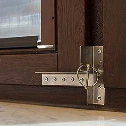 3 teilige Fenstersicherung für alle handelsüblichen Holzfenster DIN rechts (Griff rechts) Einbruchsicherung