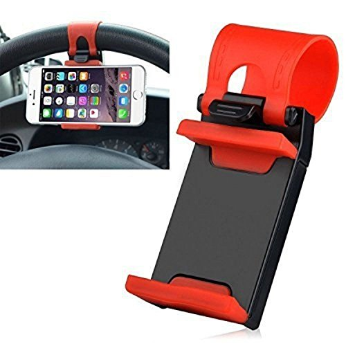 Voltac 54-76mm Car Steering Wheel Mobile Holder (Multi-Color) Model 410117