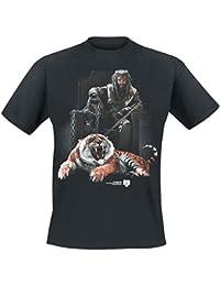 The Walking Dead Ezekiel & Tiger Camiseta Negro