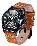 Ingersoll reloj infantil con mecanismo de automático para hombre esfera cronógrafo y correa de piel color marrón IN4506BBK