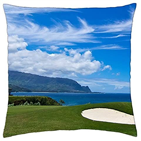 Bali Hai Golf Course - Princeville Kauai North Shore Hawaii - Throw Pillow Cover Case (18