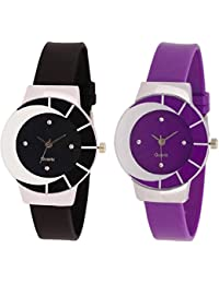 SPINOZA Analogue Multi-Colour Black Beautiful Watch With Purple And White Multicolor And Attractive Glass Glory...