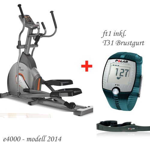 Horizon Fitness Elite E4000 Crosstrainer - inklusive FT1 Polar Pulsuhr und T31 Brustgurt