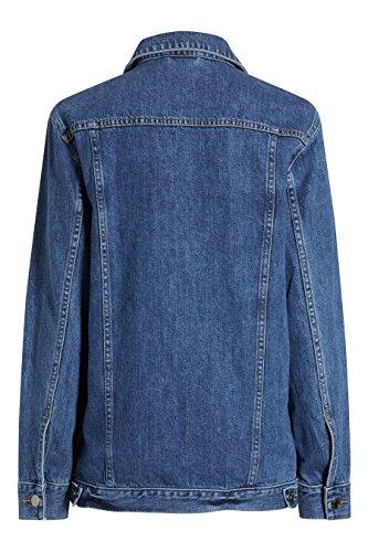 next Femme Coupe Classique Veste Oversize En Denim Bleu 1