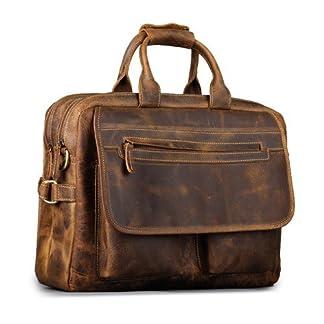 Kattee de piel resistente maletín, bolsa para portátil de 16«
