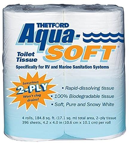Thetford 03300 Aqua-Soft Toilet Tissue, 2-Ply, 4 Rolls by Thetford
