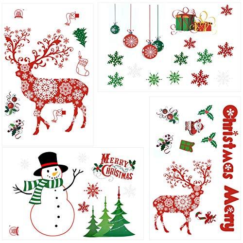 Weihnachtsbaum Comic.Selbstklebend Schneemann Weihnachtsbaum Weihnachtsmann Rentier