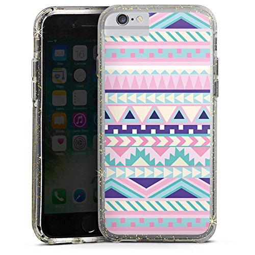Apple iPhone 6 Bumper Hülle Bumper Case Glitzer Hülle Zacken Girl Pattern Bumper Case Glitzer gold