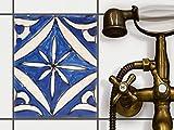 creatisto Küche Bad Fliesentattoo | Küchenfolie Küchen-Fliesen Fliesenbild Badezimmerdeko | 20x25 cm Muster Ornament Spanish Tile 1-1 Stück