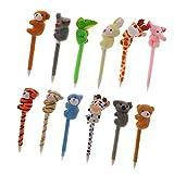 Magideal 12Pcs Plush Animal Pens Plush P...
