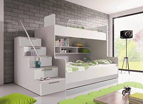 8 furnistad etagenbett heaven kinder stockbett option links wei - Coolste Etagenbetten
