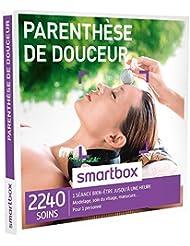 SMARTBOX - Coffret Cadeau - PARENTHÈSE DE DOUCEUR - 2240 soins : MODELAGE, GOMMAGE, SOIN DU VISAGE, MANUCURE, ACCÈS AU SPA...