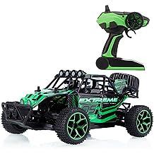 Metakoo Buggy RC - Coche todoterreno 4x4 teledirigido, 20 km/h, a escala 1:18, 2,4 GHz, mando a distancia, tracción a las 4 ruedas – color verde