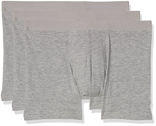 New Look Herren Badehose Three Pack Grey (Mid Grey)