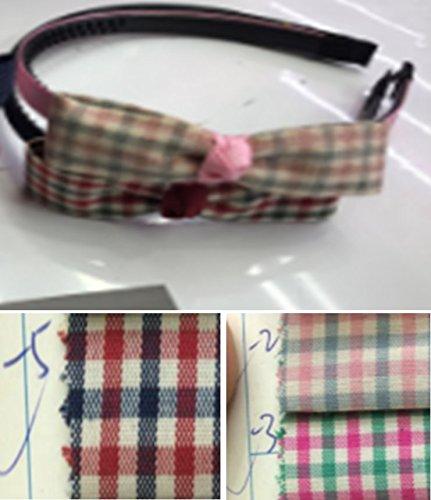 Mädchen Stirnbänder - 6-Pack Plaid Ribbon Bow Haarbänder für Kinder, Headwear Zubehör in 3 verschiedenen Farben Kariertes Design für kleine Mädchen und Erwachsene