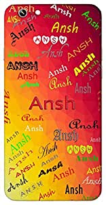 Ansh (Portion) Name & Sign Printed All over customize & Personalized!! Protective back cover for your Smart Phone : Apple iPhone 6-Plus