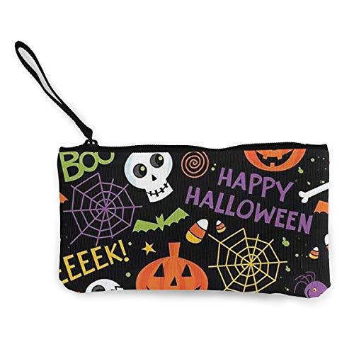 dewdferf Coin Purse Halloween Decoration Cute Travel Makeup Pencil Pen Case With Handle Cash Canvas Zipper Pouch 4.7
