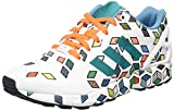 adidas Originals ZX Flux S79096, Herren Low-Top Sneaker, Schwarz (Ftwr White/Ftwr White/Solar Orange), EU 46 2/3