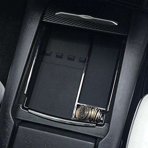 Samsung Galaxy Note 8 S8 Plus S8 S7 Consola central Caja de almacenamiento con reposabrazos con carga inal/ámbrica para Tesla Model S y Model X Cargador inal/ámbrico apto para iPhone X//8//8p