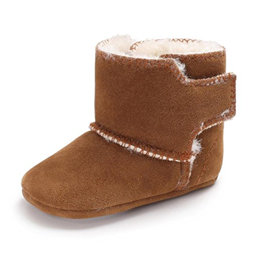 Mädchen Winter Stiefel 2017 Warm Schuhe Baby Stiefel Flauschiger Samt Anti-Rutsch SOMESUN Shoes (6-12 monate, braun) Regen-stiefel-große Kinder