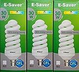 Kompaktleuchtstofflampen/Energiesparlampen, 3, 6Stück, CFL Full Spiral 30W = 150Watt, Kompaktleuchtstofflampen, cool white, b22 30.00 wattsW 240.00 voltsV