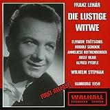 LEHÁR: DIE LUSTIGE WITWE (Hamburg 1950) / Hamburg Radio Symphony Orchestra, Stephan, Trötschel, Pfeifel, Schock, Rothenberger