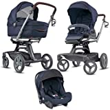 Inglesina - Carrito para bebé con triple función Quad, Oxford, azul